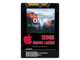macOS Mac OS X 10.11 El Capitan Preloaded on 120GB Solid State Drive - $39.99