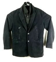 Express Design Studio Mens Jacket Sz Small  Black With Zip Out Vest 2 in... - $27.69