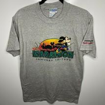 Discus Athletic T-Shirt Men's M Gray Walt Disney World Marathon 1999 Vtg - $25.19