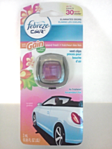 New Febreze Car Vent Clip Air Freshener Island Fresh With Gain Odor Elim... - $3.00