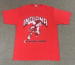 VTG Swingster Indiana Hoosiers 1987 National Champions T-Shirt Red Adult XL - €21,96 EUR