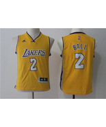 youth Lakers #2 Lonzo Ball jersey yellow basketball jersey.jpg - $26.66
