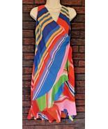 Lauren Ralph Lauren Size 2 Striped Georgette Faux Wrap Dress Sleeveless ... - $34.65