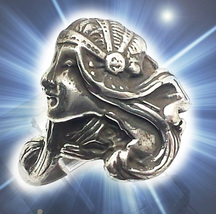 HAUNTED RING  BEAUTIFUL GODDESS OF THE HIGHEST LIGHT MYSTICAL TREASURES MAGICK - $447.77