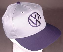 VOLKSWAGON Hat-Snapback-Grey-Baseball Cap-Auto Garage-Embroidered Logo-O... - $32.71