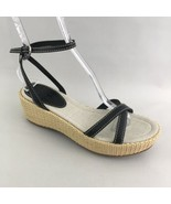 The Original Car Shoe by Prada Platform Sandal Straw Ankle Strap 39.5 9.5 - $93.49