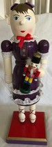 Ballerina Wooden Nutcracker Limited Edition holiday decoration Purple Dr... - $27.71