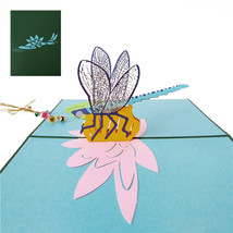 Dragonfly--3D Greeting Card, Pop Up Card, Pop Out Card - $6.40