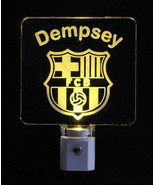 Futbol Club Barcelona Soccer Football Personalized LED Night Light -Gift - $23.50