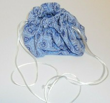 Longaberger Jewelry Pouch Provincial Paisley Bag Blue White 2879754 New  - $12.86