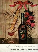 Vintage 1941 Magazine Print Ad FOUR ROSES WHISKEY - $7.70