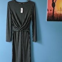 Ann Taylor Women's Wrap Front Dress Green, Navy, White, Size 8 - $49.99