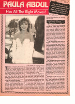 Paula Abdul teen magazine pinup clipping has all the right moves pink