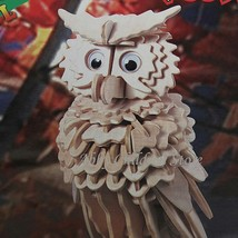 DIY 3D Wooden Puzzles Abbyfrank Owl Model Handmade Woodcraft Learning To... - $12.19