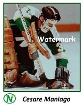 NHL 1970's Minnesota North Stars Goalie Cesare Maniago Color 8 X 10 Phot... - $5.99