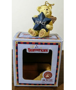Rare! 2006 Boyds Lil' Bearmericans Peace Bear with Angel Wings Ornament~... - $16.82