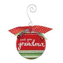 Demdaco Grandma Patterned Ceramic Ornament 3.5 Inches Diameter Decorativ... - $17.33