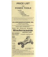 Price List for Power Tools GILLIOM Manufacturing, Inc November 1978 - $2.50