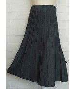 SACRED THREADS One Size gray cable knit long A-line skirt NWT - $28.66