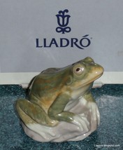 Lladro #6702 Nature's Observer Brand New In Box Green Frog Toad Collectible Gift - $242.49