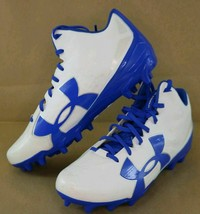 Under Armour Mens Fierce Phantom Mid MC FOOTBALL Cleats Sz 12 1283304-141 - $38.00