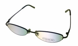 Coach Womens Ophthalmic Eyeglass Frame Oval Rimless Metal, Sherri 122 Slate - $44.99