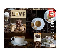 """NEW Educa Jigsaw Puzzle Game 1000 Pieces Tiles """"Coffee"""" - $42.89"""
