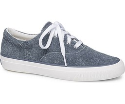 Keds WH58537 Women's Anchor Hairy Suede Blue Sneakers, Size 11 - $36.62