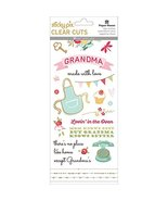 Paper House Sticky Pix Clear Cuts Stickers 5/Pkg-Grandma - $3.95