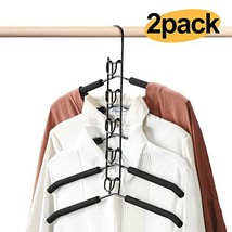 HOUSE DAY Magic Hangers 2 Pack Multilayer Anti-Slip Clothes Rack Space S... - $32.40