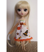 Halloween Trick or Treat Pullip Momoko Jenny doll size hand made dress OOAK - $18.97