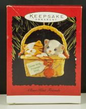 Hallmark Ornament CLOSE-KNIT Friends Cats In Knitting Basket New In Box 1996 - $9.95