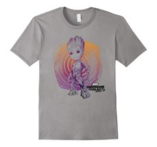 Marvel Groot Guardians of the Galaxy 2 Swirl Graphic T-Shirt Men - £10.29 GBP+