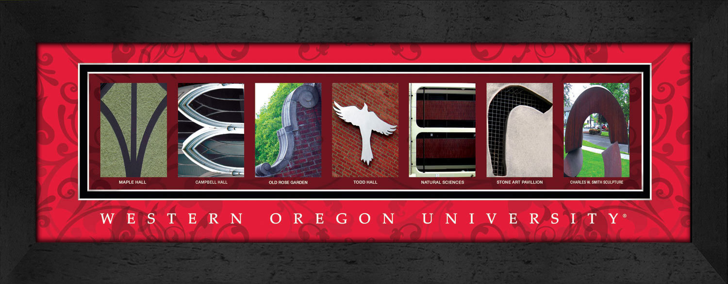 Primary image for Western Oregon University Officially Licensed Framed Campus Letter Art
