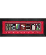 Western Oregon University Officially Licensed Framed Campus Letter Art - $39.95