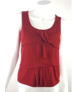 Talbots Womens Size Small Petites PS Red Layered Ruffled Sleeveless Blou... - $6.79