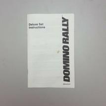 Domino Rally Deluxe Set Instruction Booklet Manual Vtg 1990 Pressman - $19.97