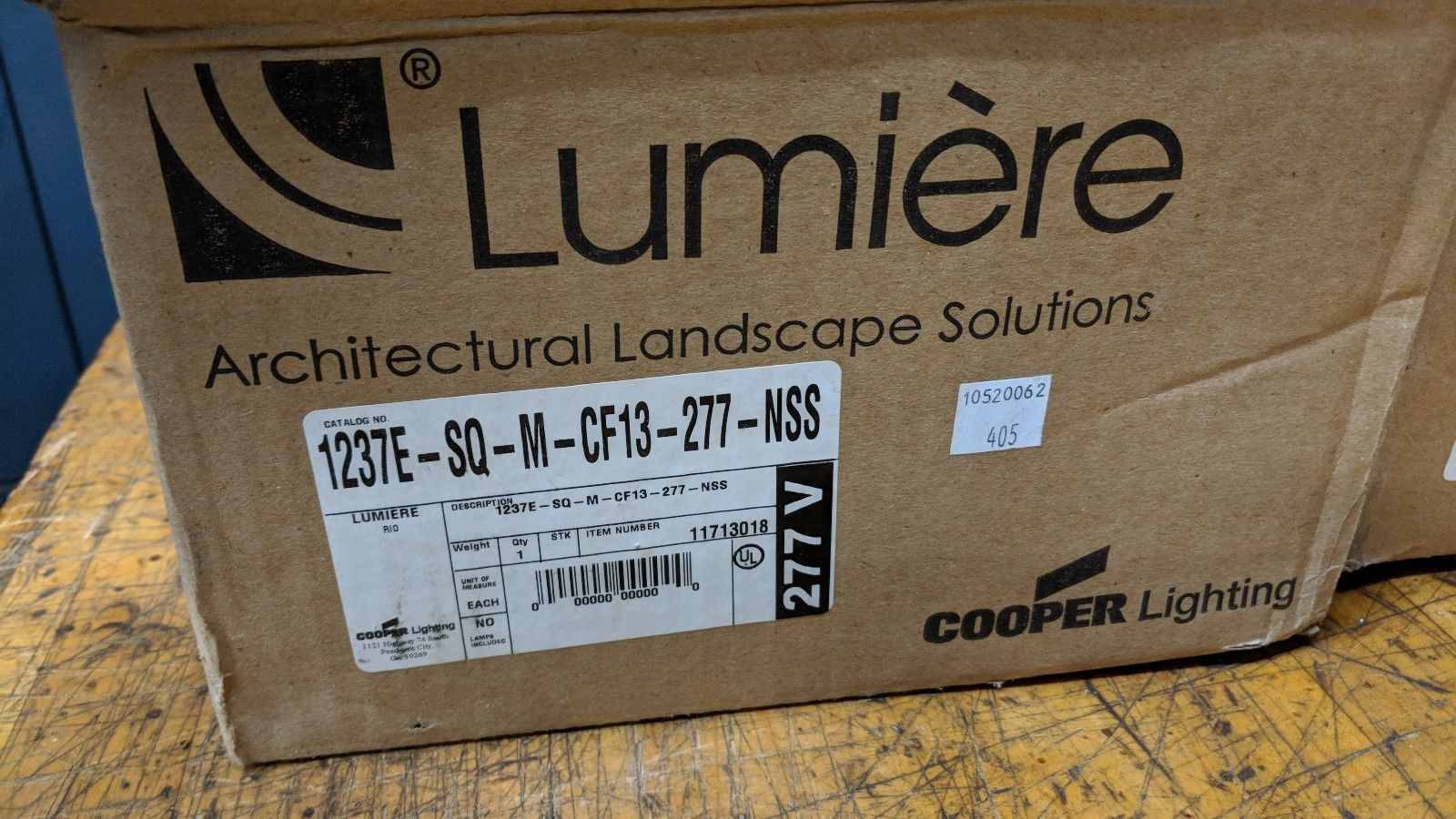 """cooper luimiere 7"""" stainless steel CF step light 1237e-sq-m-cf13-277-nss"""
