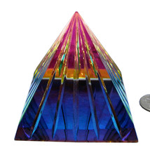Scholer 80mm Peacock Grooved Crystal Pyramid image 1