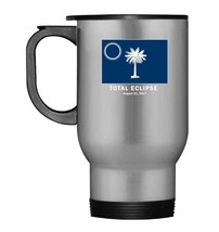 South Carolina Solar Eclipse 2017 Flag Travel Mug - $21.99