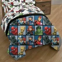Marvel Avengers Team Full Size Bed Comforter 76in x 86in image 2