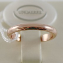 SOLID 18K ROSE GOLD WEDDING BAND UNOAERRE RING 4 GRAMS MARRIAGE MADE IN ITALY image 1
