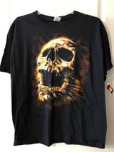 Halloween  T Shirt  SKULL Men's Sz X-LARGE  XL Fruit of the Loom Brand - $18.80
