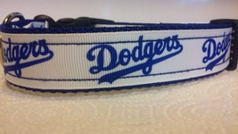 Handmade LA Dodgers Adjustable Nylon Dog Collar - $11.26+
