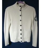 Ralph Lauren Nautical Crest Cardigan White Sweater Button Down Long Slee... - $44.55