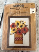 Caron FLUFFY FLOWERS Hallmark Design Collecton Vintage Crewel Kit Collectible - $9.50
