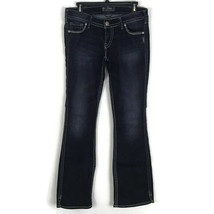 Silver Jeans Womens Jeans Size 30 Twisted Dark Wash Low Rise Stretch Den... - $48.26