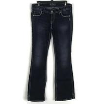 Silver Jeans Womens Jeans Size 30 Twisted Dark Wash Low Rise Stretch Denim Slits - $48.26