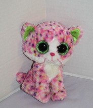 "TY Beanie Boos SOPHIE Cat 6"" KITTY Pink Speckled Plush GREEN Glitter Eye... - $16.40"