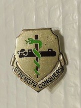 US Military 45th Support Battalion Insignia Pin - Strength Conquers - $10.00